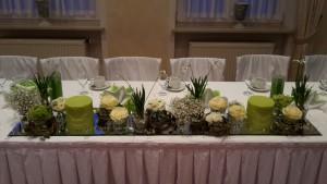 Dekoration Brauttisch