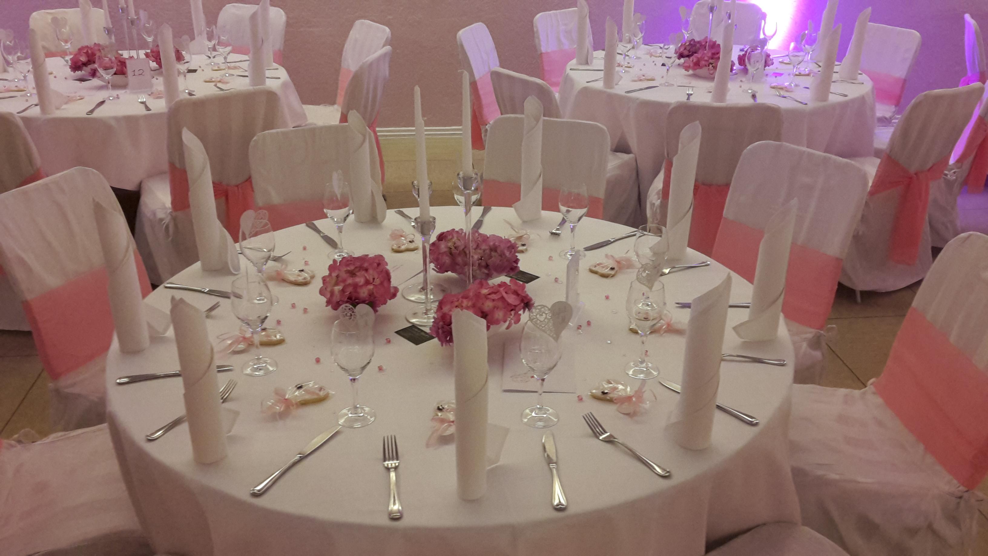 Tischdekoration für Hochzeiten