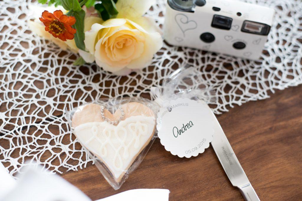 Gastgeschenke als Tischkärtchen