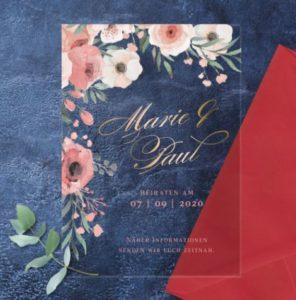 Hochzeitseinladung Acryl