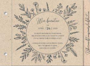 Booklet Einladung Graspapier